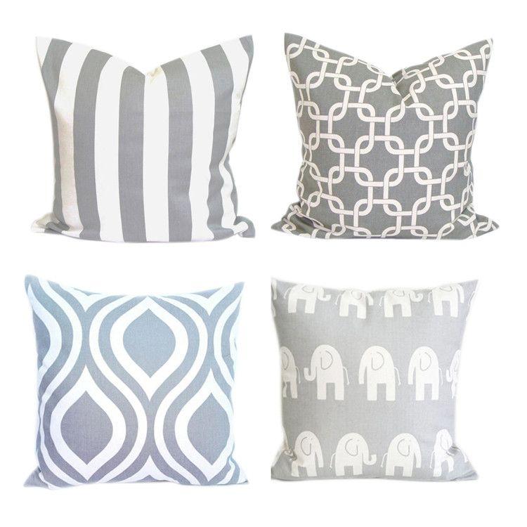 Grey Geometric Cushion Cover Customized Design