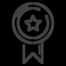 Gaming Award Ribbon Stroke Icon Award Ribbon Business Card Template Psd Icon