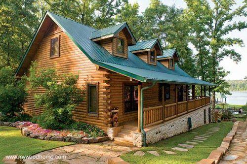 Pin En Log Cabins Wood Houses