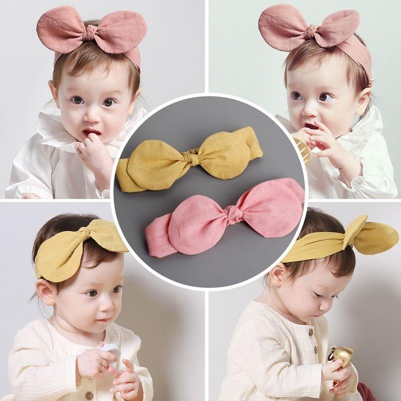 Children Girls Feather Arrow Cotton Headband Infant Turban Knot Headwear