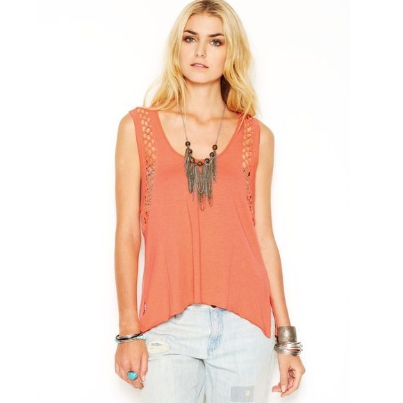 Free People Tangerine Tank Top tangerine orange tank...brand new with tags.   size medium. non smoking home Free People Tops Tank Tops