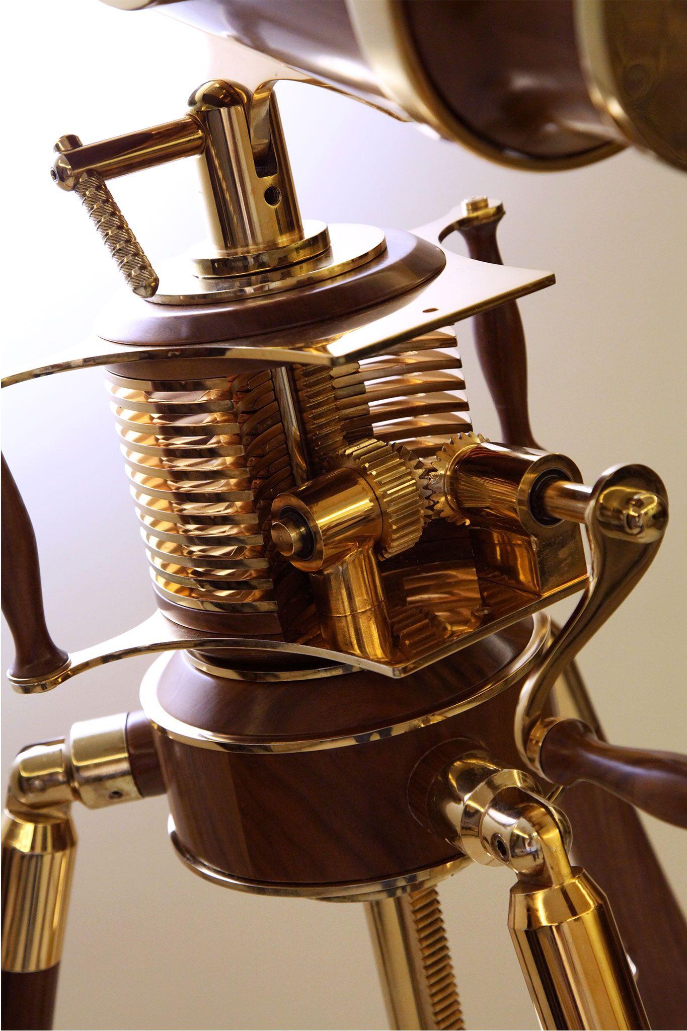Steampunk Tripod Floor Lamp, Vintage, post-war machinery
