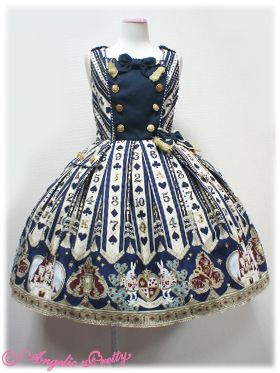 I should have bought this when I had the chance... sigh -kicks self..   Lolibrary | Angelic Pretty - JSK - Wonder Queen Soldier JSK navy