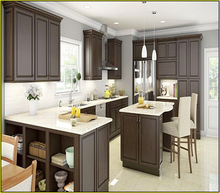 Espresso Kitchen Cabinets Home Depot  Espresso Kitchen Glamorous Kitchen Cabinets Home Depot Review