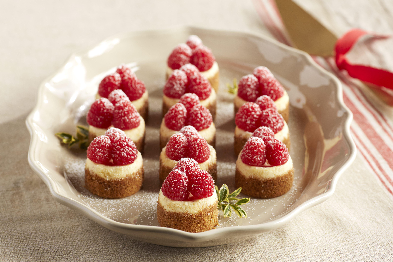 Mini Raspberry Eggnog Gingerbread Cheesecakes Recipe Mini Eggnog Cheesecake Sweet Pastries Gingerbread Cheesecake