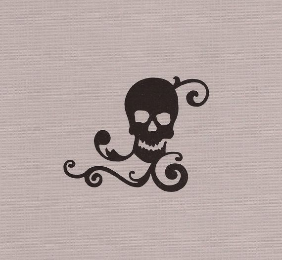 Skull Decal Wall Decal Laptop Decal Car Decal by ...