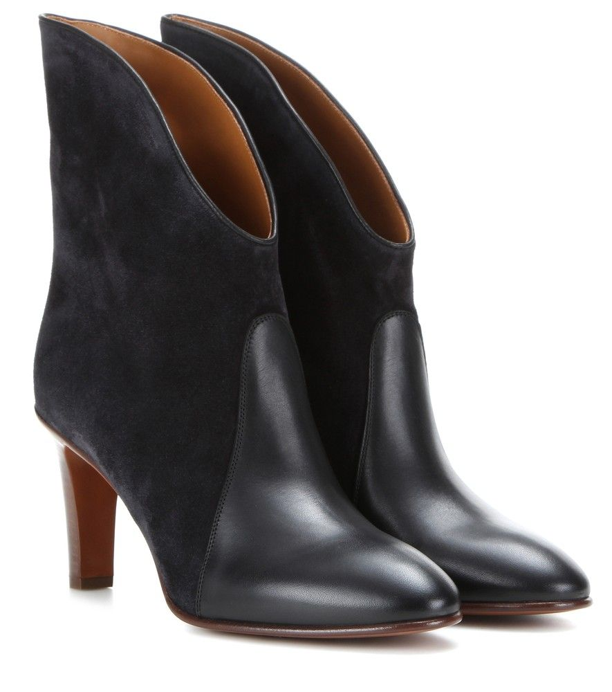 c17a49301c Chloé - Kole suede and leather ankle boots - A chic city pair with ...