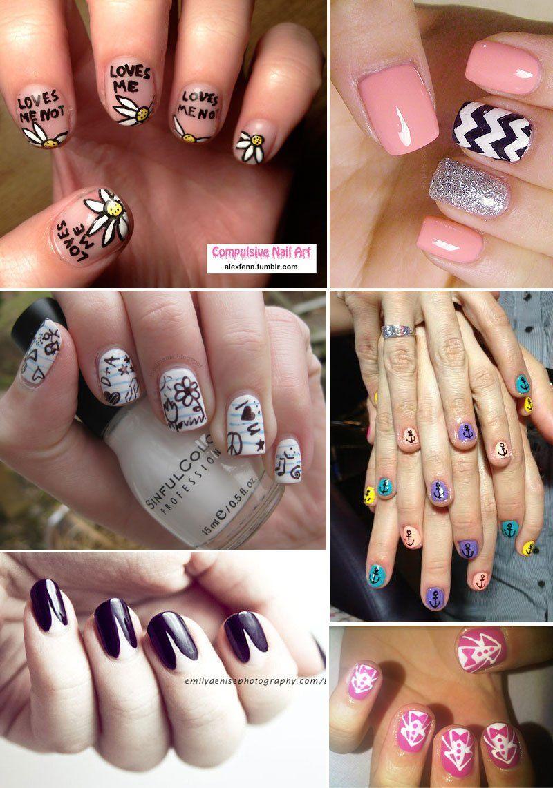 nail art roundup Diy nail designs, Nails, Nail art