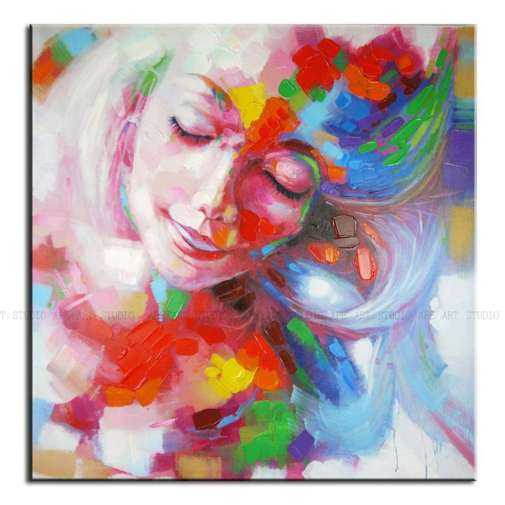 bourbon pub on bourbon street french quarter new orleans wall  - beautiful flower fairy oil paintingcolorful sweet girl canvas oil paintingabstractpainting