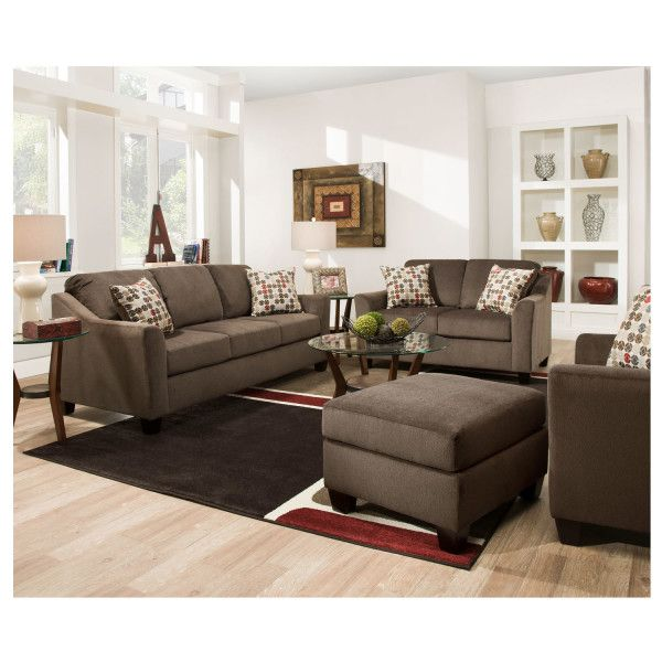 Simmons 4310 Cicero Mink Sofa Living Room Leather Couches Living Room Brown Living Room Living room ideas mink sofa