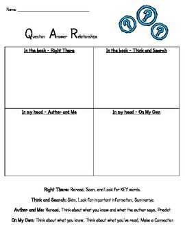 QAR Practice Sheet for: QAR Game and Practice using Nursery ...
