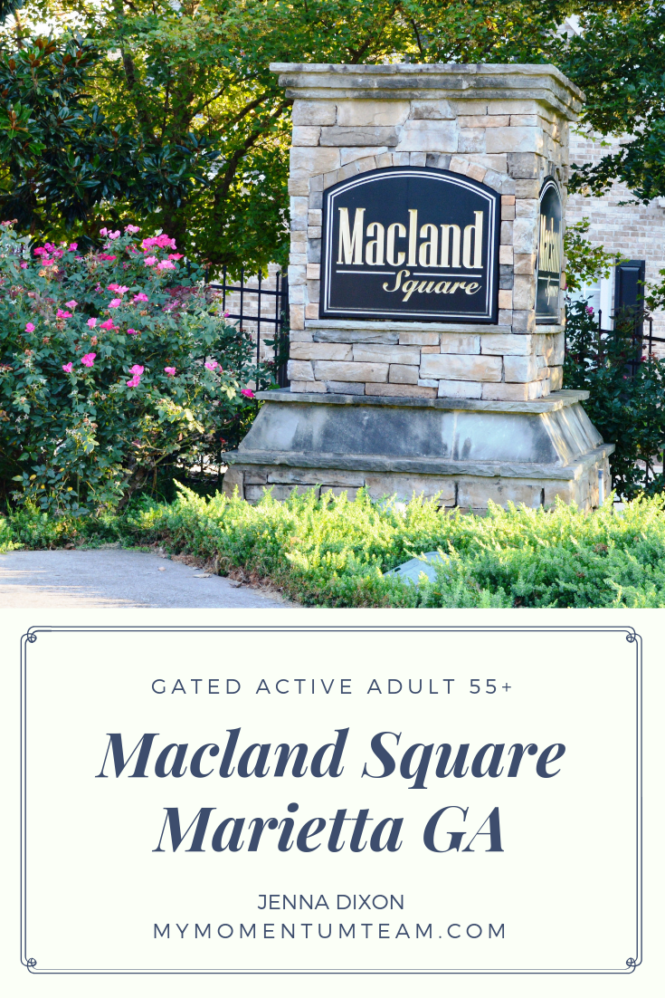 See homes for sale in Macland Square  Gated for 55 and over