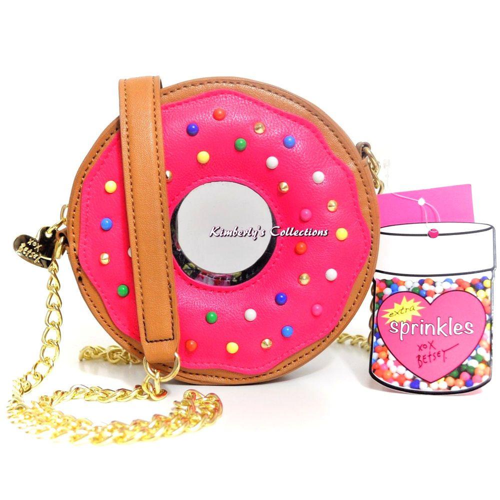 Betsey Johnson Donut Sprinkles Crossbody Shoulder Bag Purse NWT Sold Out!! # BetseyJohnson #handbags #Donuts