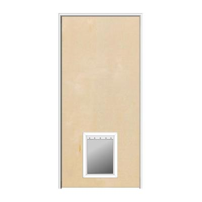 Mmi Door 30 In X 80 In 1 3 4 In Thick Flush Right Hand Solid Core Unfinished Birch Single Prehung Interior Door With Pet Door Z0364423r The Home Depot In 2020 Prehung Interior