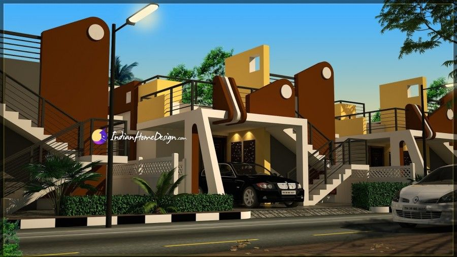 Contemporary Flat Roof Bhk Tamilnadu Home Design