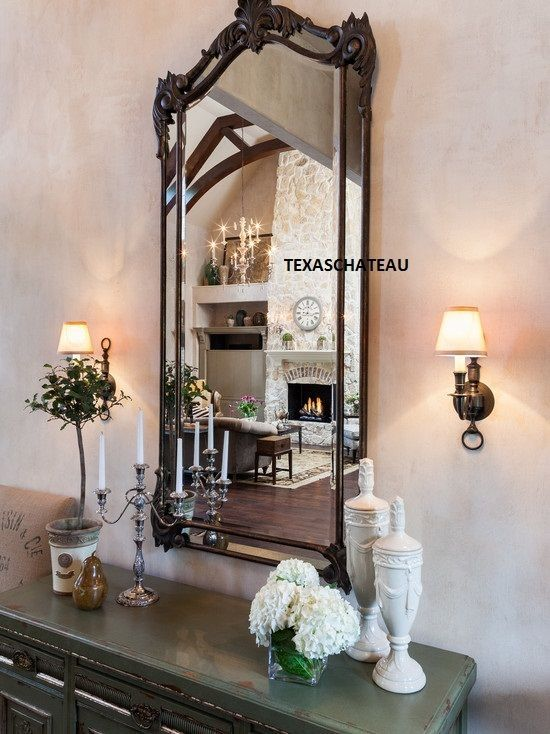 LARGE TUSCAN FRENCH ARCHED WALL MIRROR ARCH SPANISH COLONIAL REVIVAL HOME  DECOR #Tuscan - LARGE TUSCAN FRENCH ARCHED WALL MIRROR ARCH SPANISH COLONIAL
