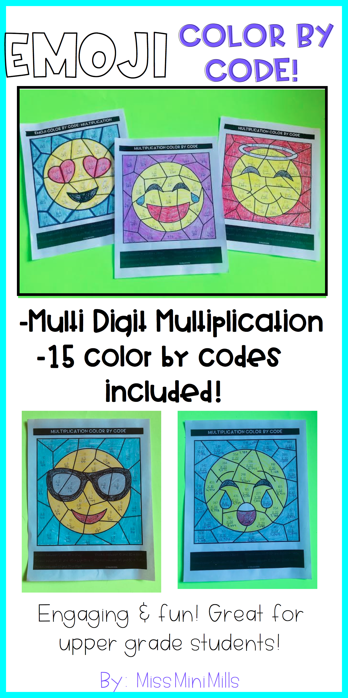 Emoji Color By Code Multi Digit Multiplication