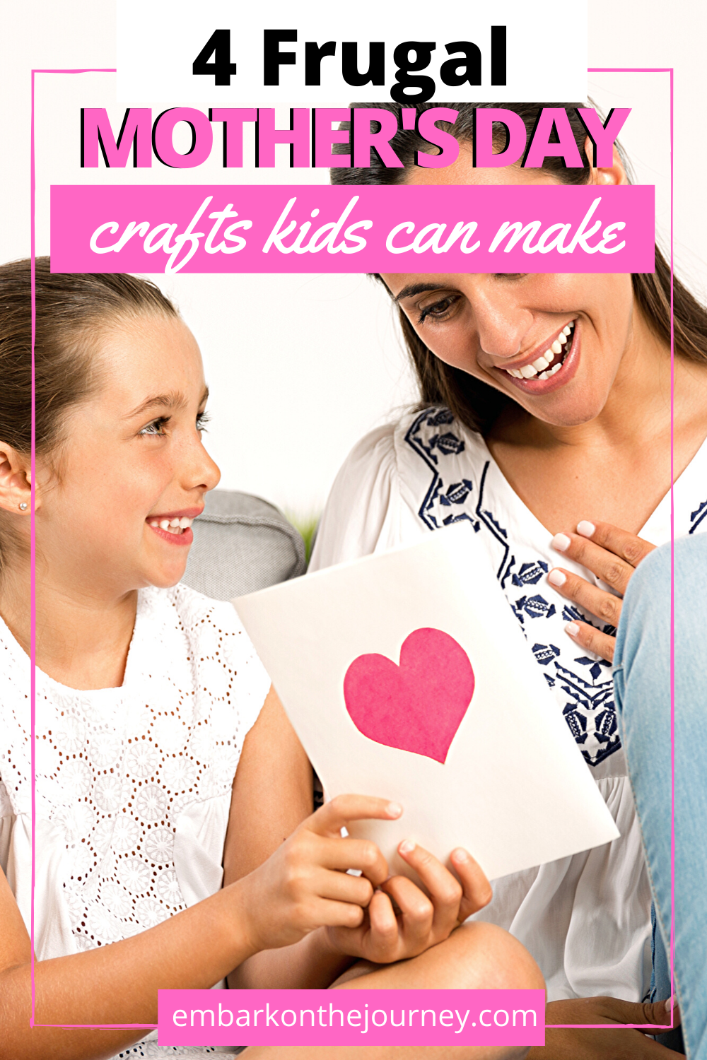 On Mother's Day, kids want to show mom just how special she is. Here are some frugal options for Mother's Day craft ideas kids can make! #mothersdaygifts #mothersdaycraftsforkids #mothersdaycrafts #embarkonthejourney