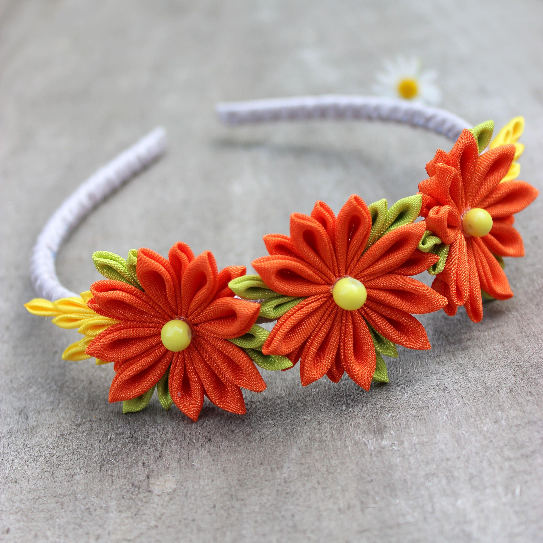 Gardening Gift Birthday Gift For Girls Gray Green Orange Headband