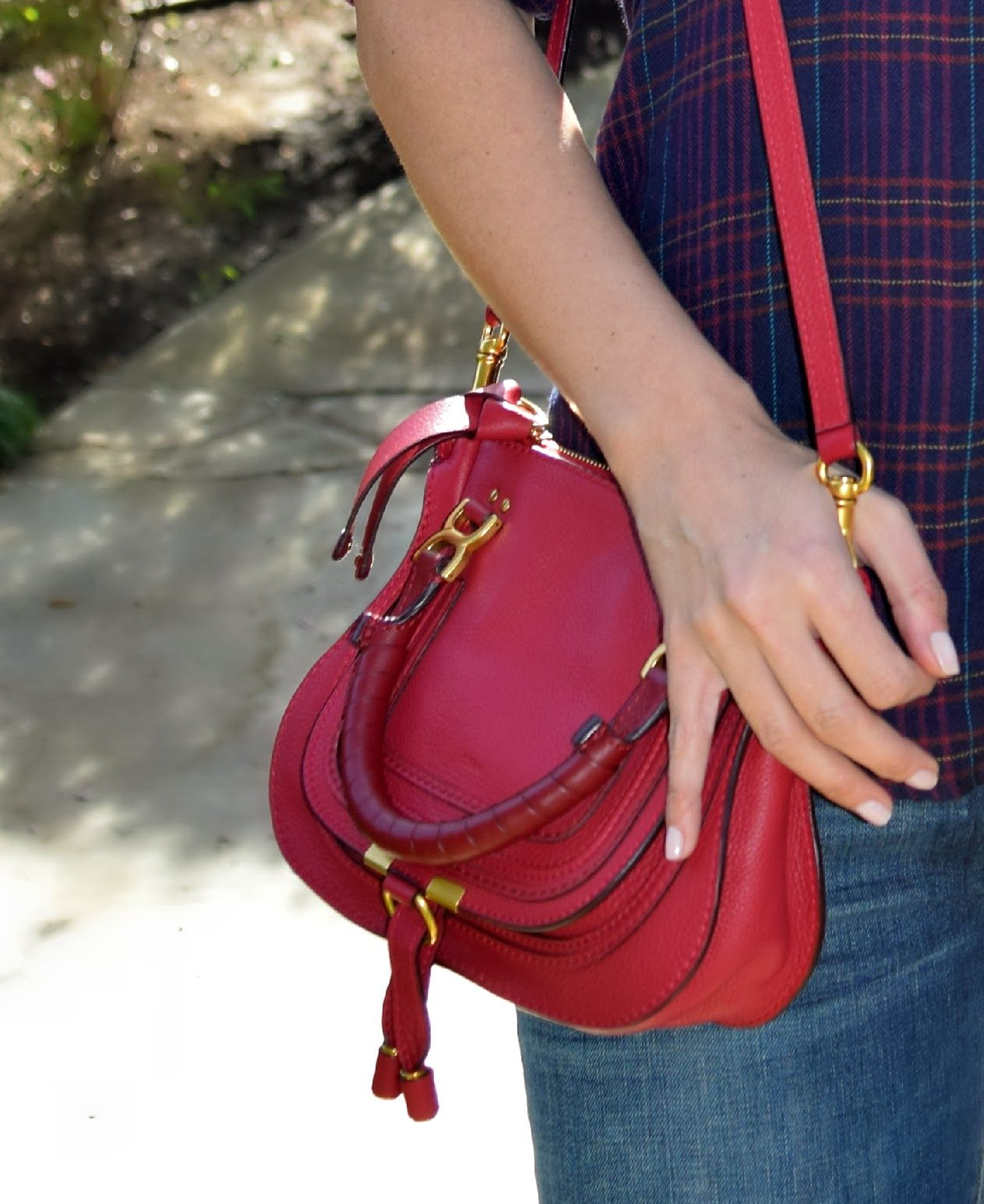 fca529f9c8 Chloe Mini Marcie in Peony Red #CHLOE   Grab a bag!   Chloe mini ...