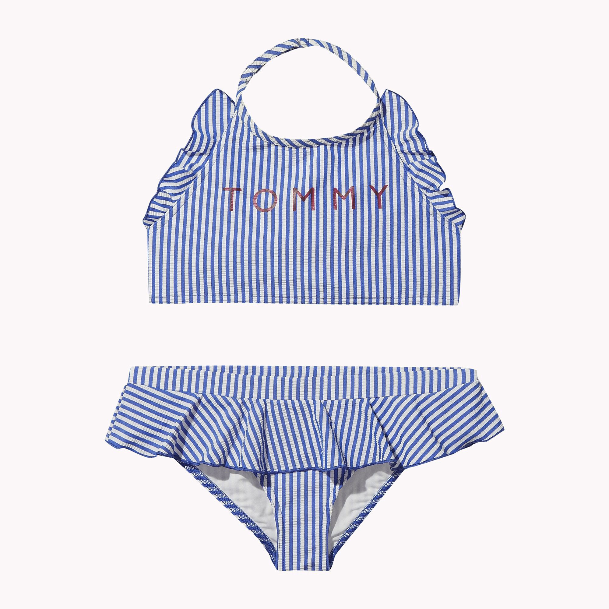 66f8f8d1d5c Tommy Hilfiger Th Kids Crop Top Stripe Bikini Set - 12-14 | Products ...
