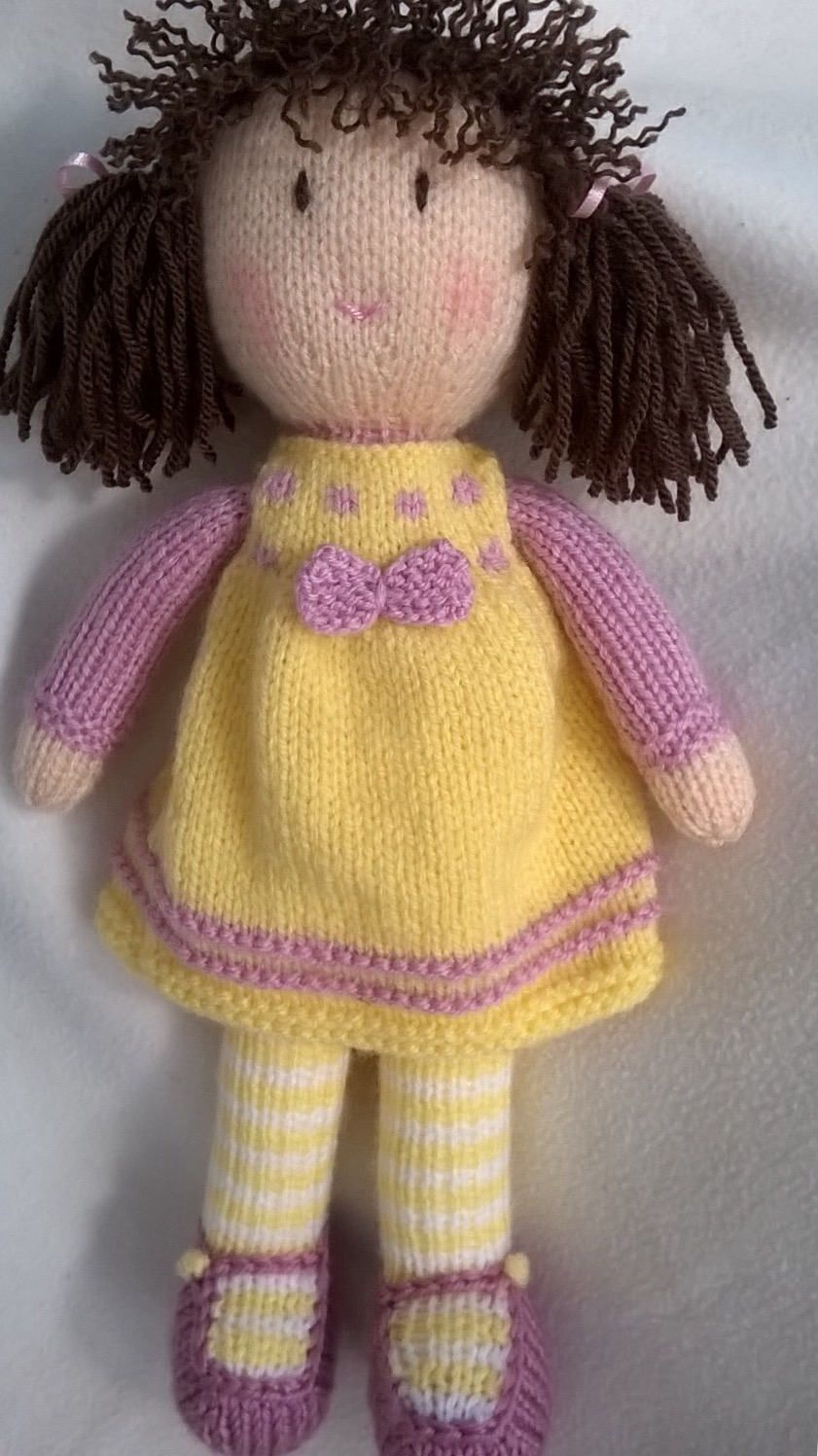 Hand knitted doll by DreamDollies on Etsy | Hand knitted doll by ...