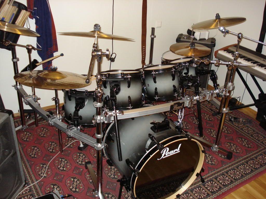 acf745f81362 Pearl Drum Rack Setup