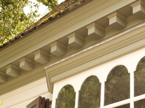 Soffit Corbels And Mouldings Dentil Moulding Colonial Williamsburg Roof Edge