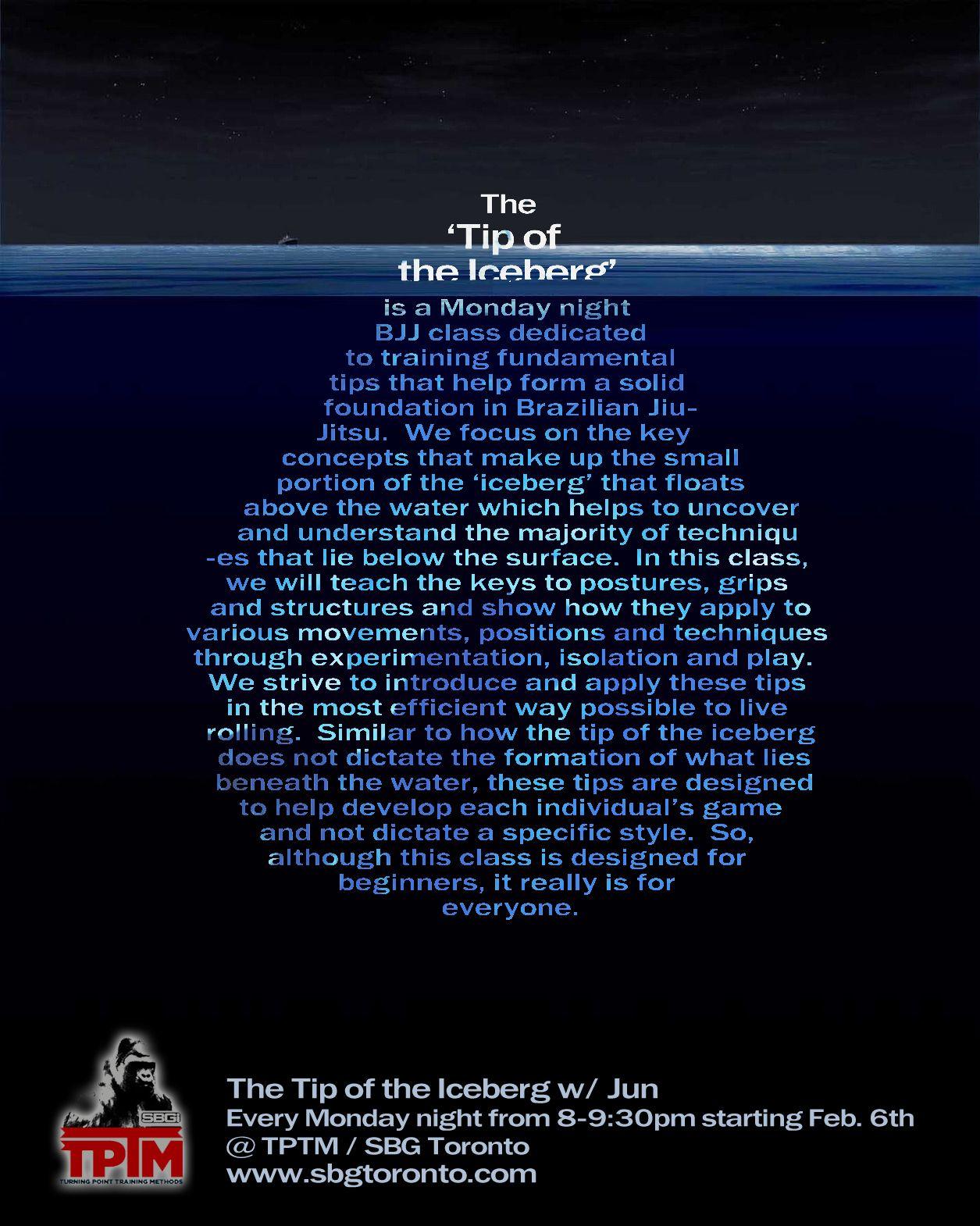 The+Tip+of+Iceberg   New Beginner's Class – The Tip of the Iceberg!