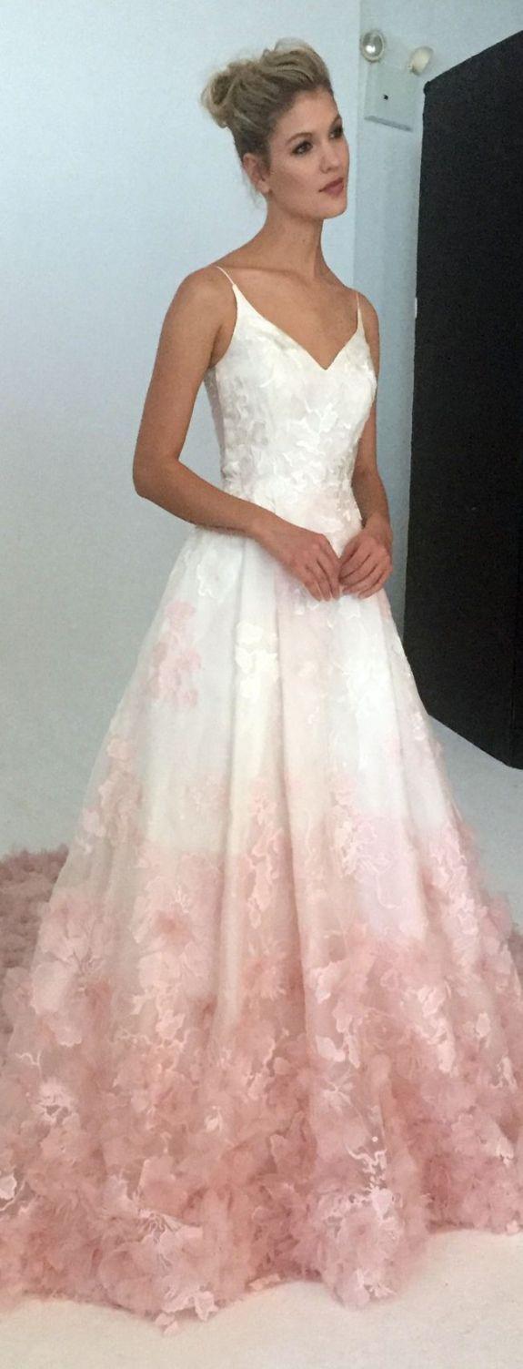 Blush Pink Lace Wedding Dress - Informal Wedding Dresses for Older ...