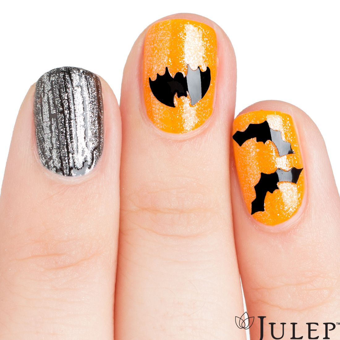 Halloween Nail Art made easy with our Bat Decals ...