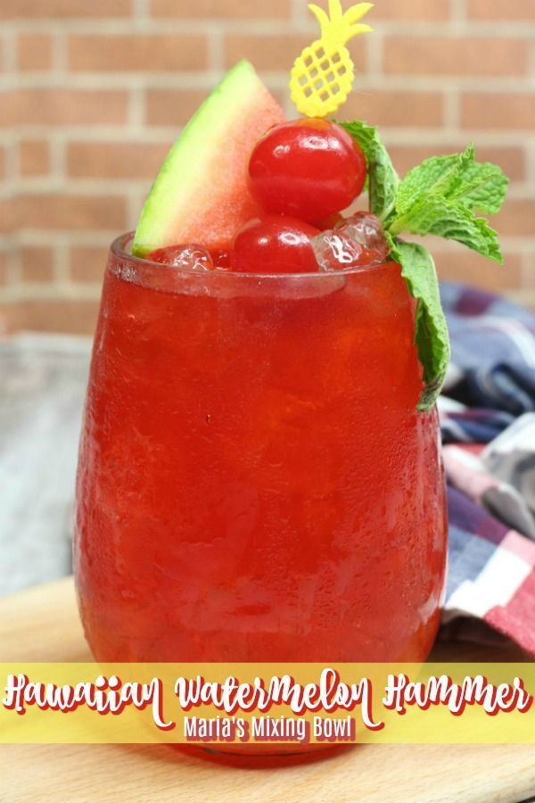 Watermelon Hammer is the drink you will be serving  to your guests all summer long. So cool and refreshing. Everyone will go crazy for this cocktail!