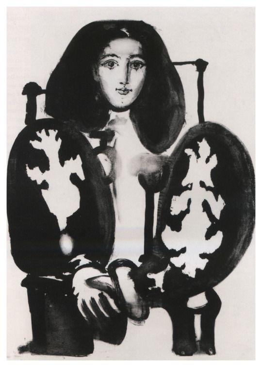 Picasso's 1948 lithograph of his partner, the painter Françoise Gilot