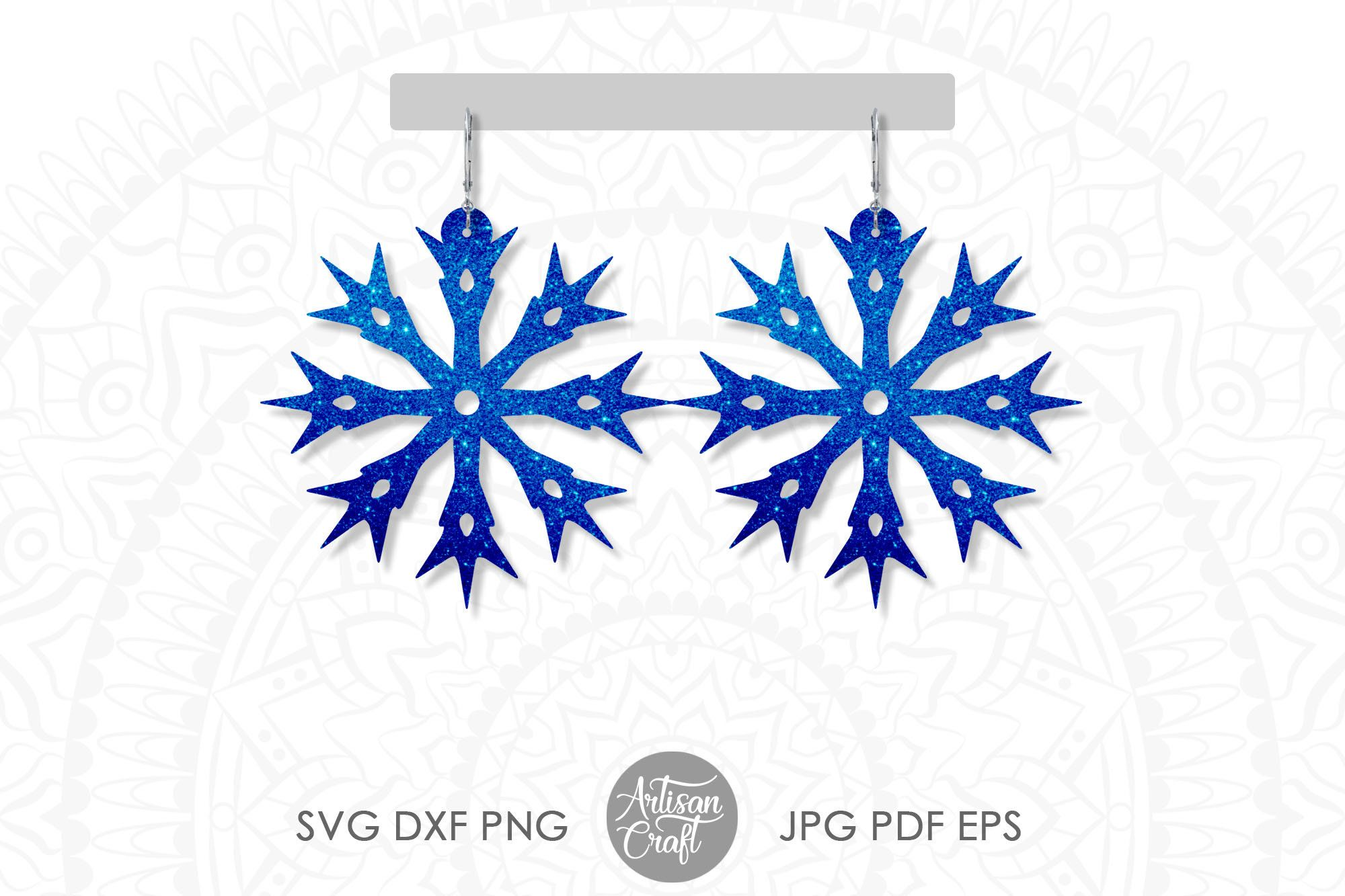 Pin on Christmas earrings svg