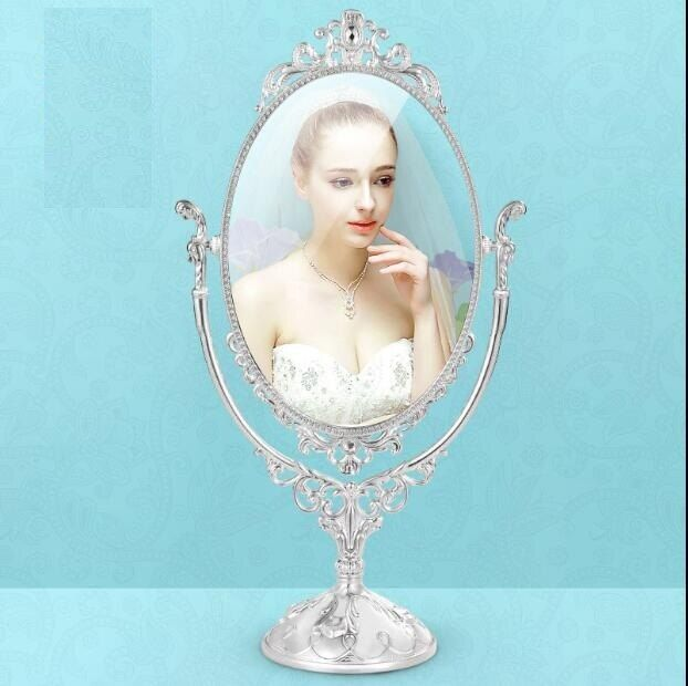 360 degree rotating home decoration makeup mirror frame decorative table mirrors wedding decorative