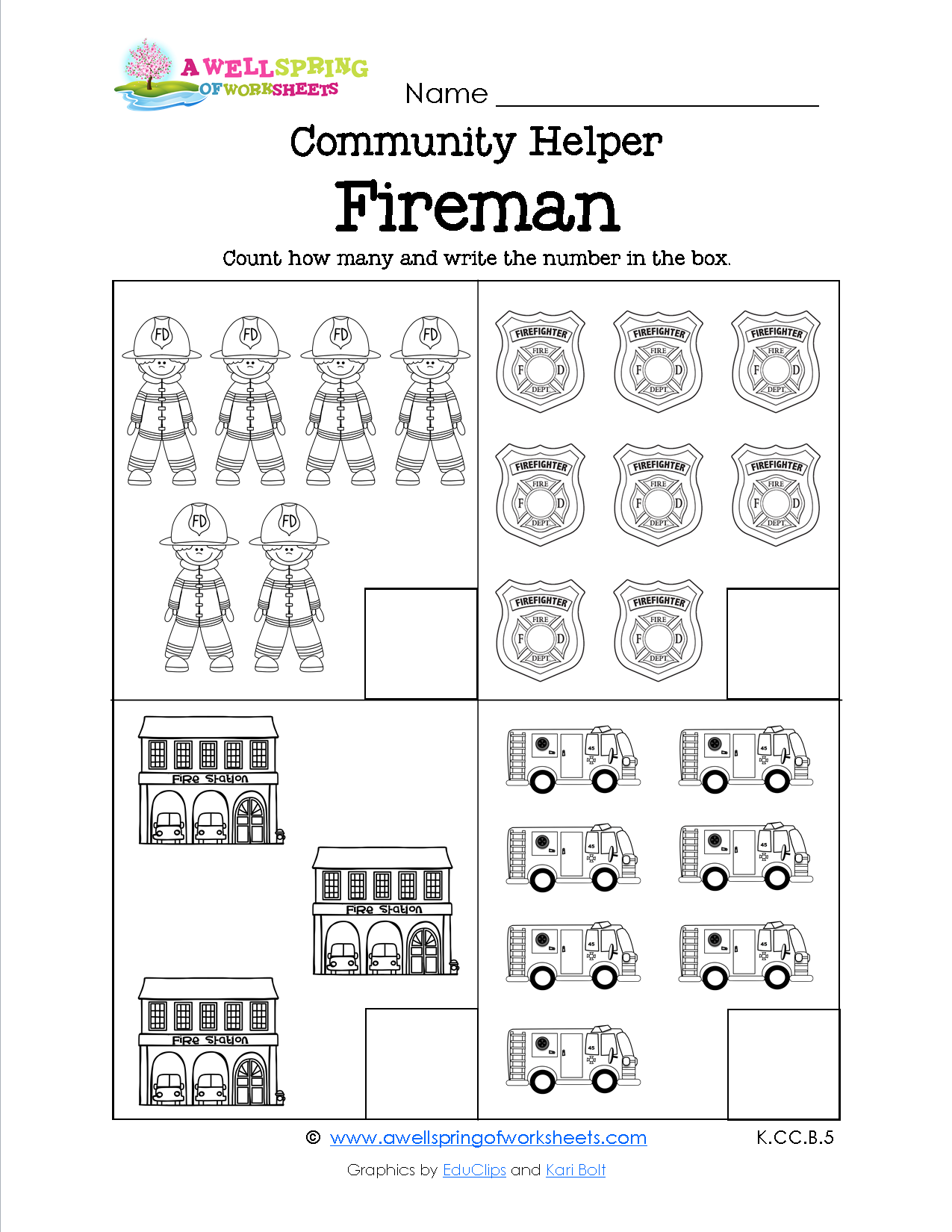 Worksheets Community Helpers Kindergarten Worksheets community helpers count how many these worksheets have four to six sets per page