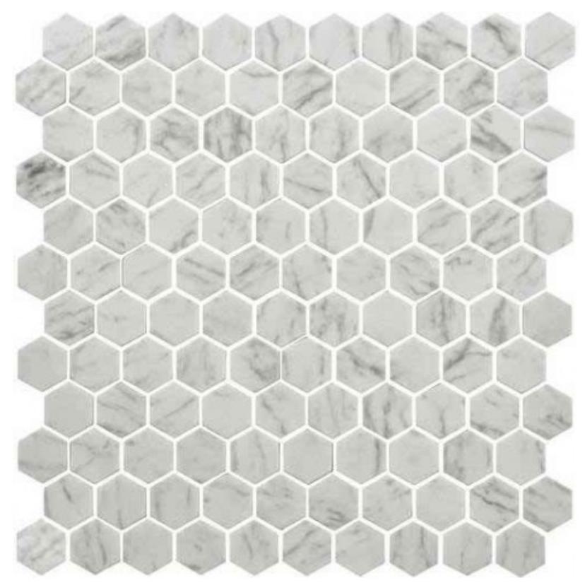 https://www.marblenthings.com/daltile-uptown-glass-carrara-1-hexagon ...