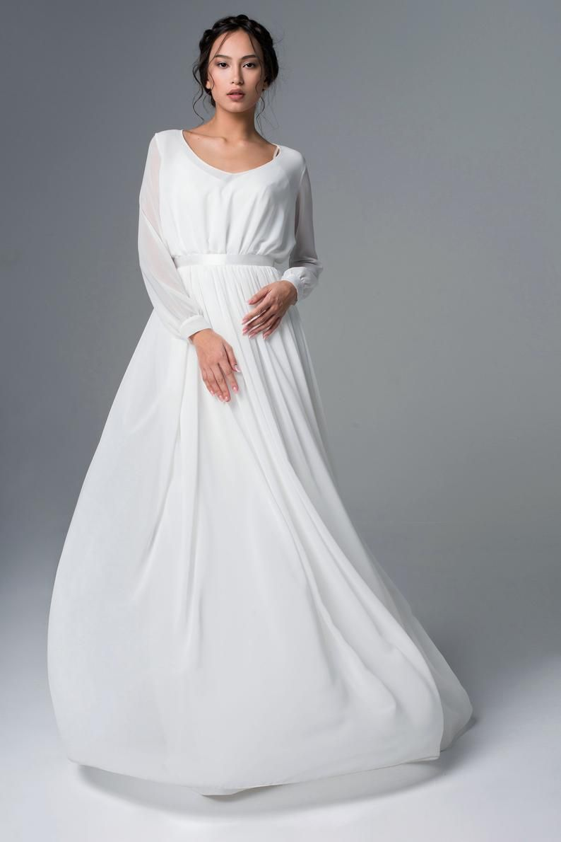 Pin By Fer Gugo On Noivado Wedding Dress Long Sleeve Long Sleeve Wedding Dress Boho Long Sleeve Wedding Dress Simple [ 1190 x 794 Pixel ]