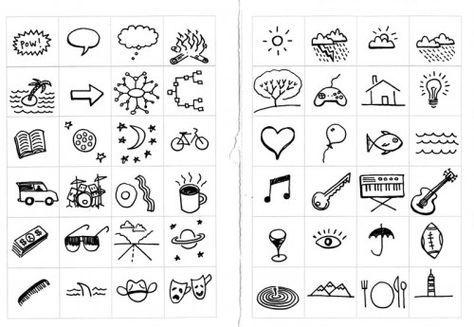 Visual note taking symbols