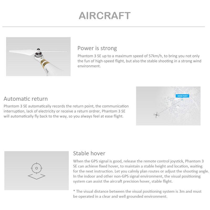 Dji Phantom 3 Se Wifi Fpv 4k Camera Drone Vision Positioning