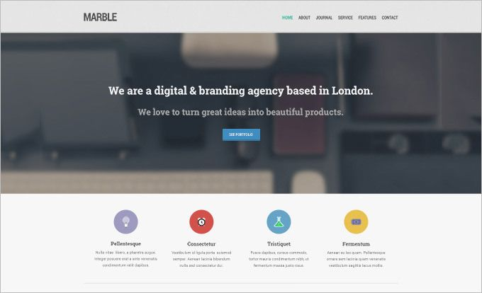 Marble Today We Give Away The Homepage PSD Of Marble Flat - Web home page template