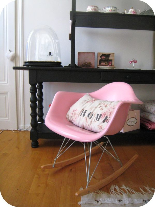 Best Pink Eames Rocker For Baby And Mama With Chaise Rar Eames