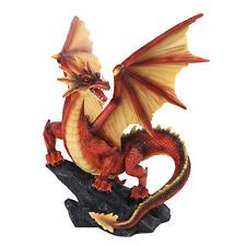 "Ancient Flame Dragon ""Ryluth"" Resting on Black Rock ..."