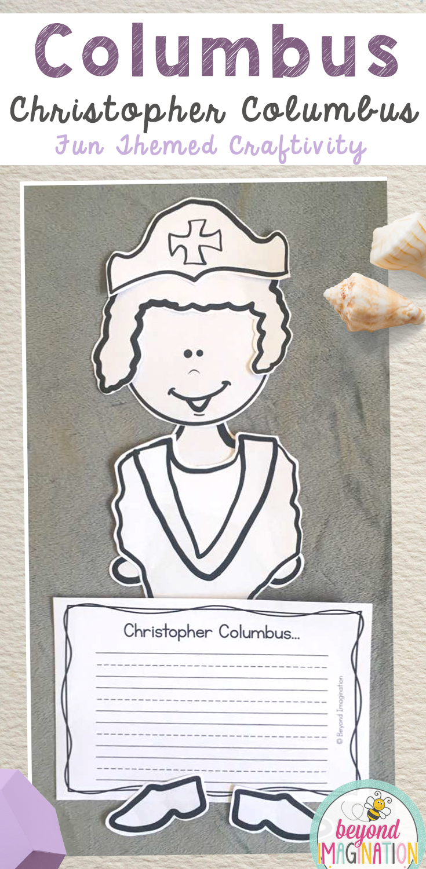 Christopher columbus craft activity. Fun craftivity for Columbus Day for  ki…   Kindergarten worksheets [ 1500 x 735 Pixel ]
