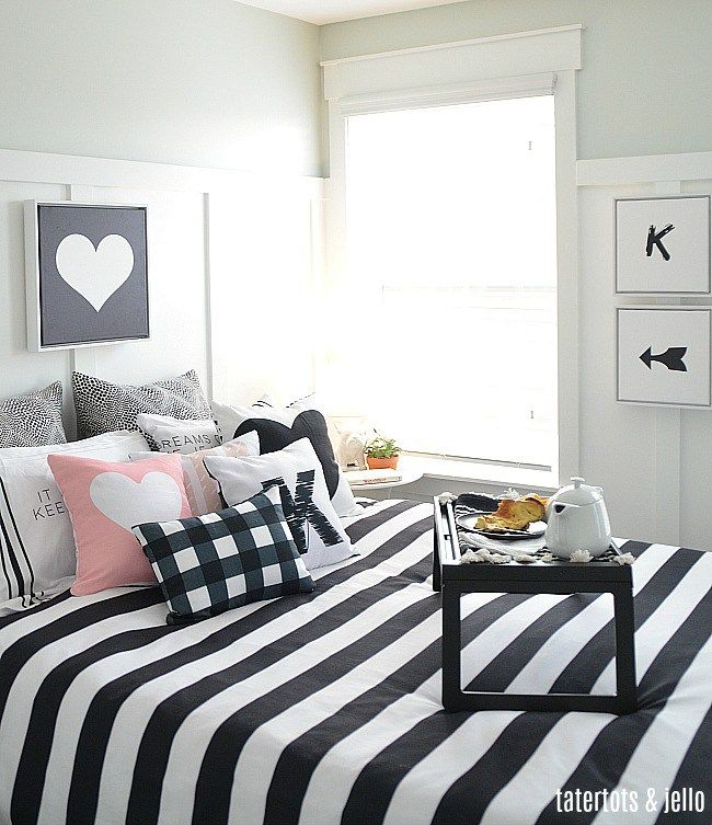 black white decoration ways to your bedroom | Black and White Kids Bedroom Ideas and Printables | Decor ...