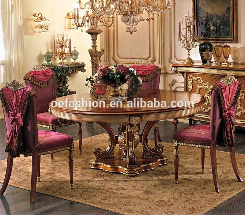 Oe Fashion Luxury Style Folding Round Wooden Dining Table And