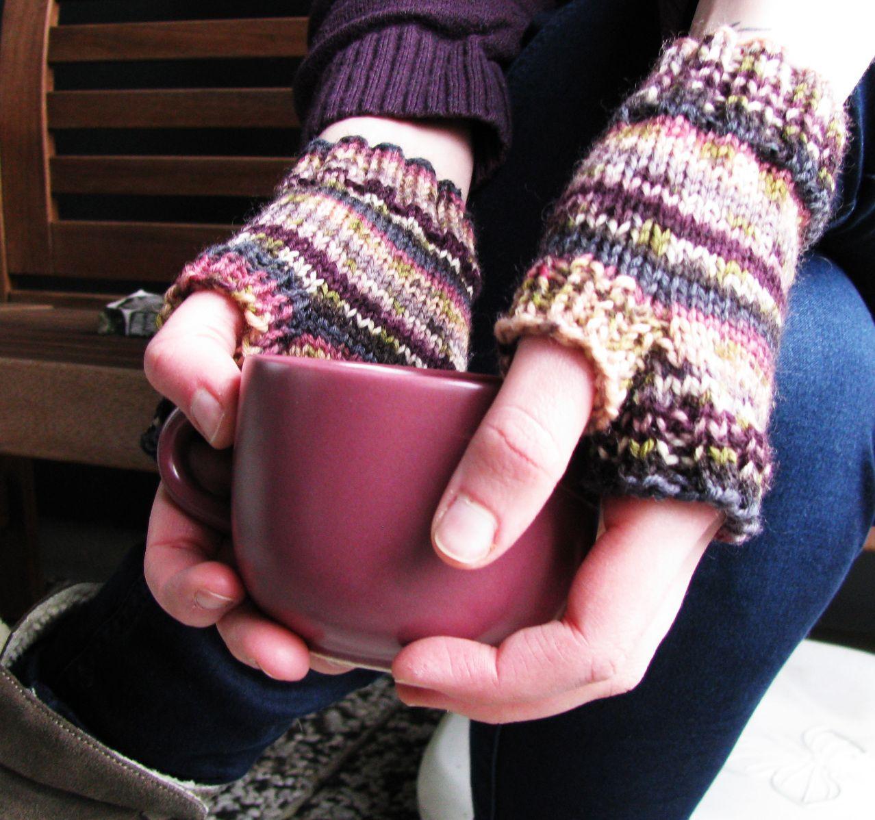 Easy peasy Anleitung für fingerlose Handschuhe | Handschuh, Wetter ...