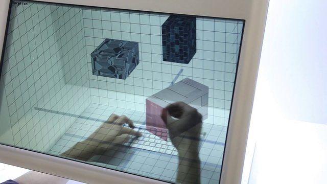 Interactive 2D y 3D multitouch desktop con pantalla transparente y reconocimiento de gestos.  Cuentanos tu idea en CONECT te podemos ayudar a crearla