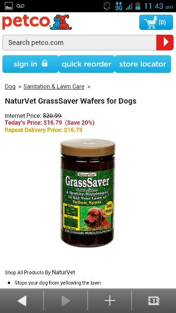 Nature S Vet Grasssaver Wafers For Dogs Lawn Care Internet