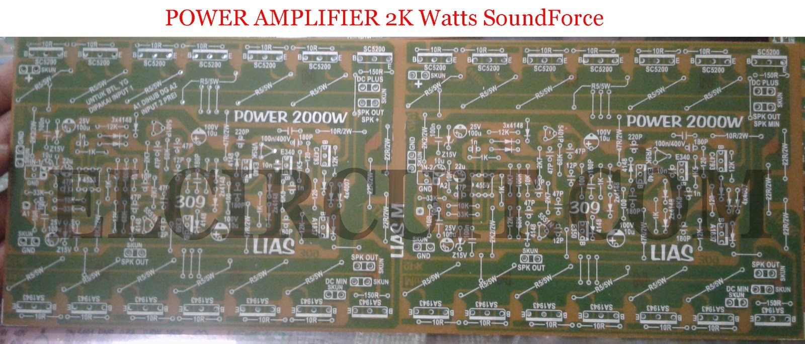 2000w Power Amplifier Circuit Diagram Vauxhall Corsa C Wiring Complete Pcb Layout Hubby Project Design For Top And Bottom Layer